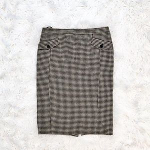 Ted Baker houndstooth wool Jaeden pencil skirt
